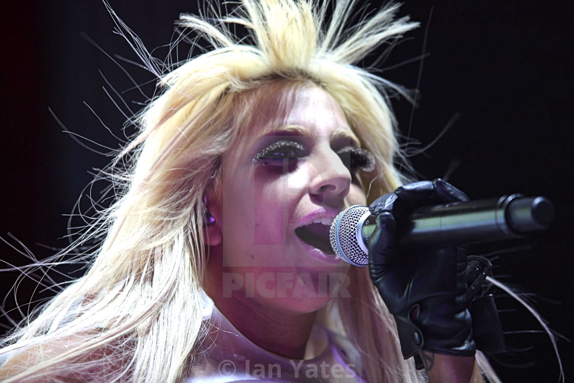 """Lady Gaga at the NIA, January 22nd 2009."" stock image"