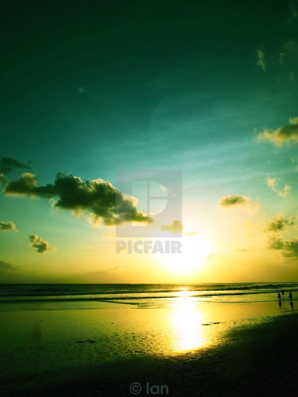 """Sunset in Seminyak"" stock image"