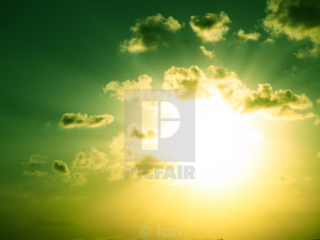 """""""Sun burst"""" stock image"""