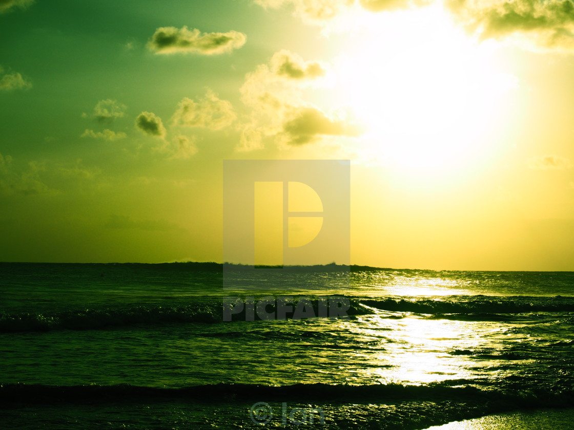 """""""Sun glare on the ocean"""" stock image"""