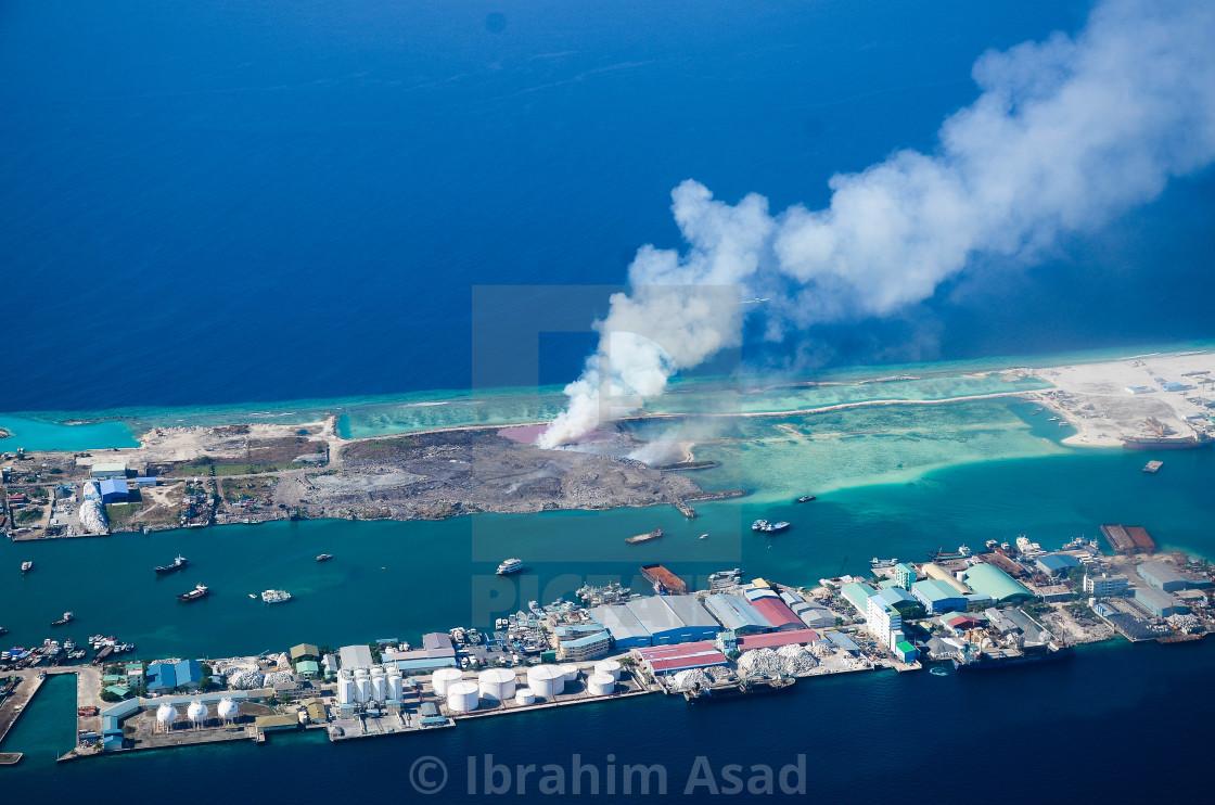 """Garbage Island of Maldives"" stock image"