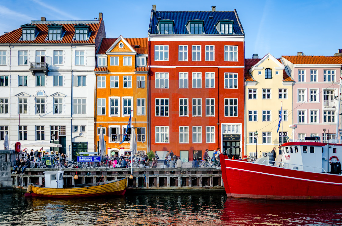 """""""Colourful houses in Nyhavn"""" stock image"""