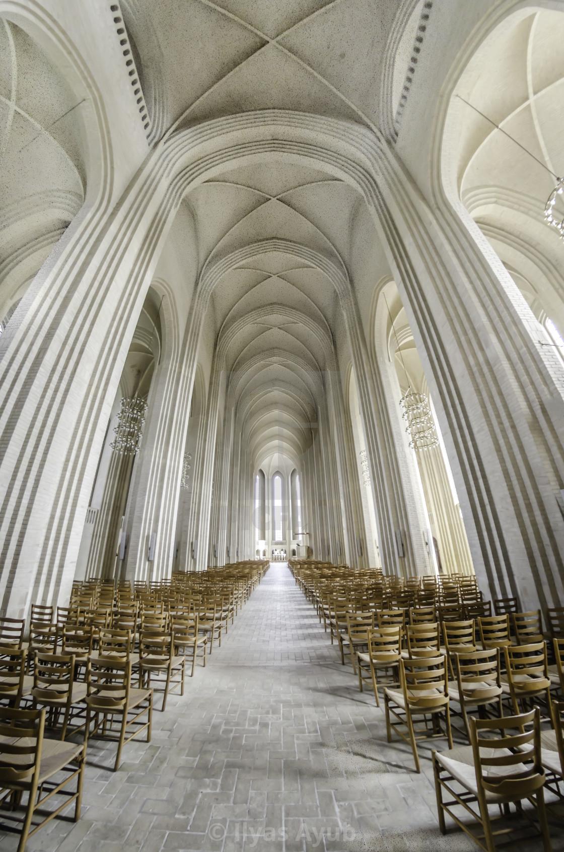 """Inside Grundtvigs Church"" stock image"