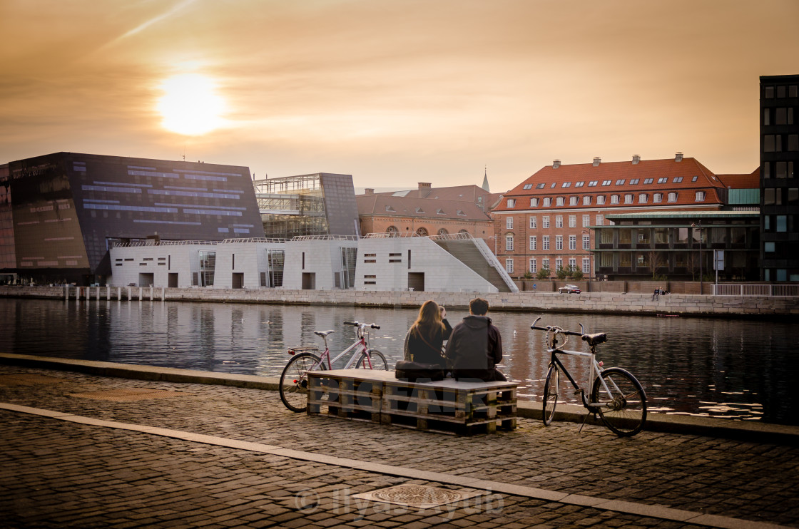 """Sunset in Copenhagen"" stock image"