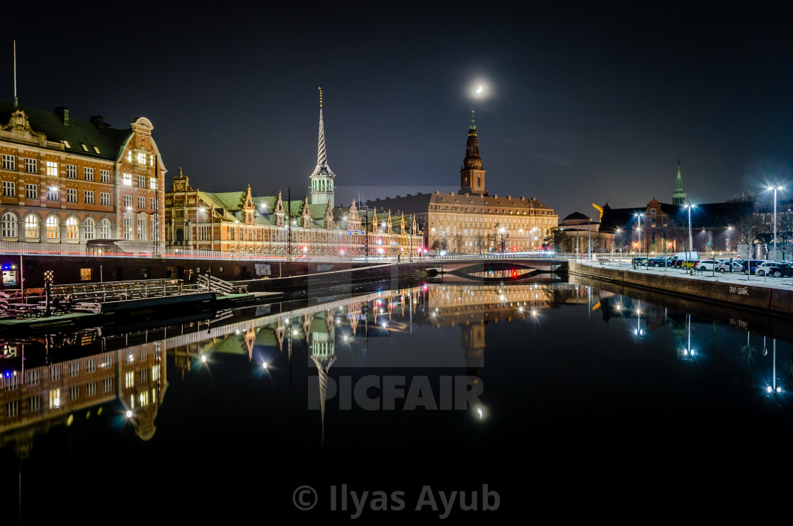 """Canal reflection"" stock image"