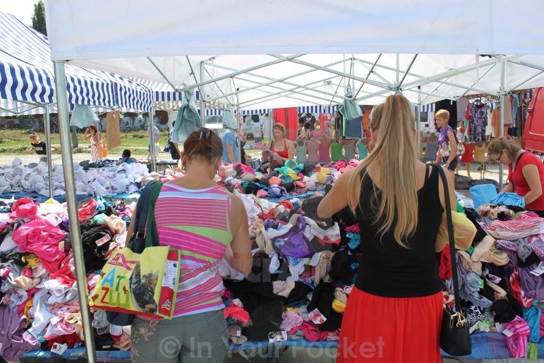 """""""Swiebodzki market, Wroclaw"""" stock image"""
