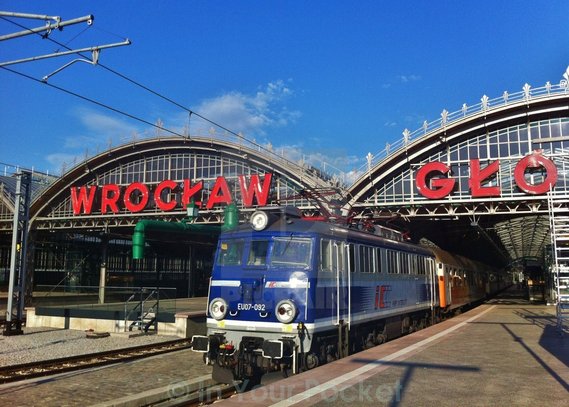 """""""Wroclaw Train Station"""" stock image"""