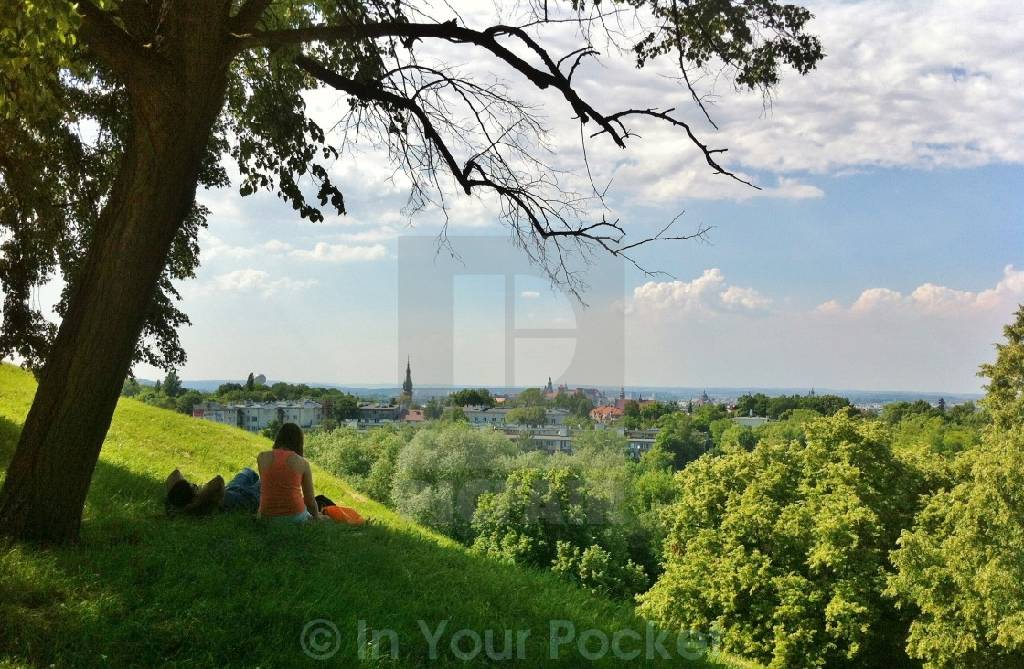 """View from Krak's Mound, Krakow Poland"" stock image"
