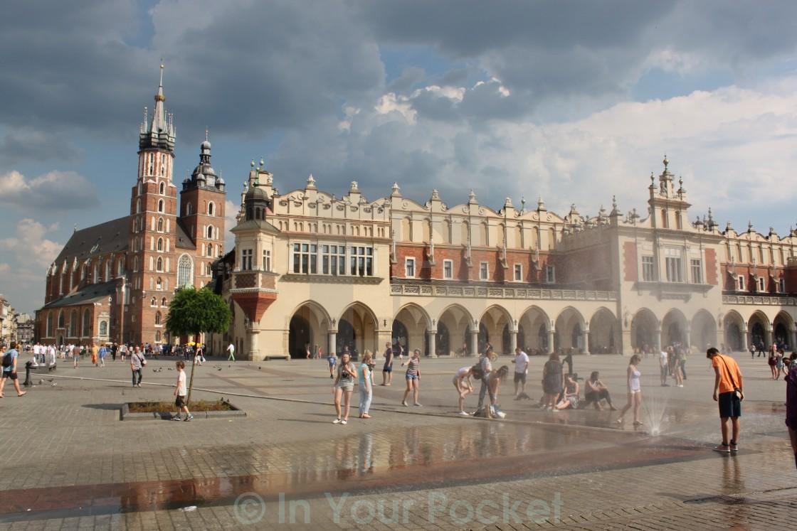 """Main Market Square, Krakow Poland"" stock image"