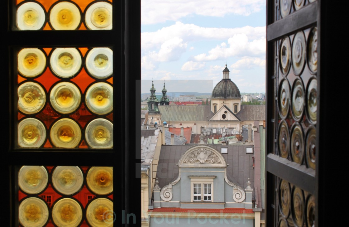 """View from Krakow's Town Hall Tower"" stock image"