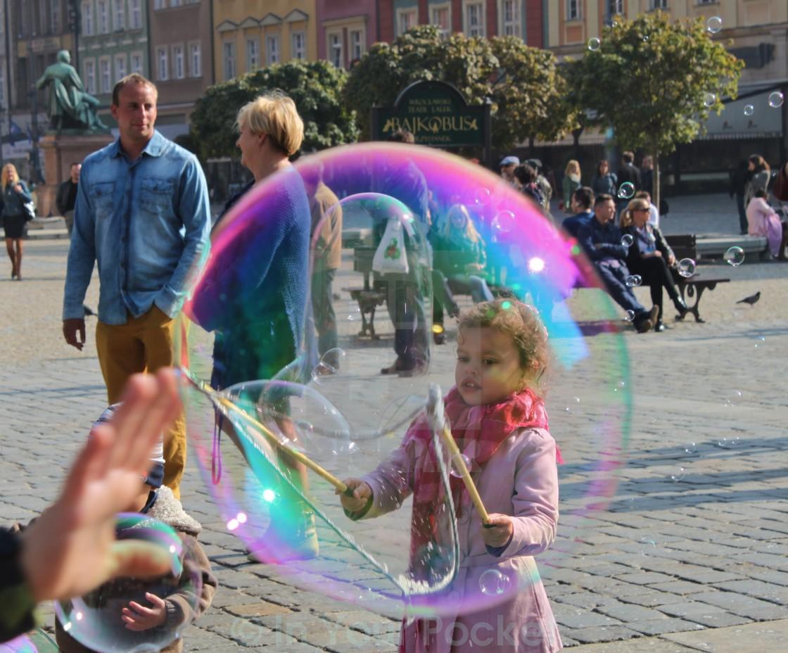 """Bubble magic in Wrocław, Poland"" stock image"