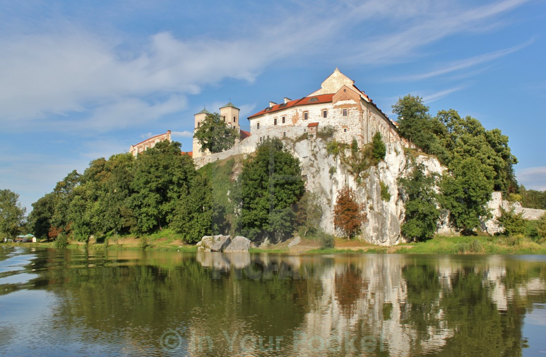 """Tyniec Abbey, Poland"" stock image"