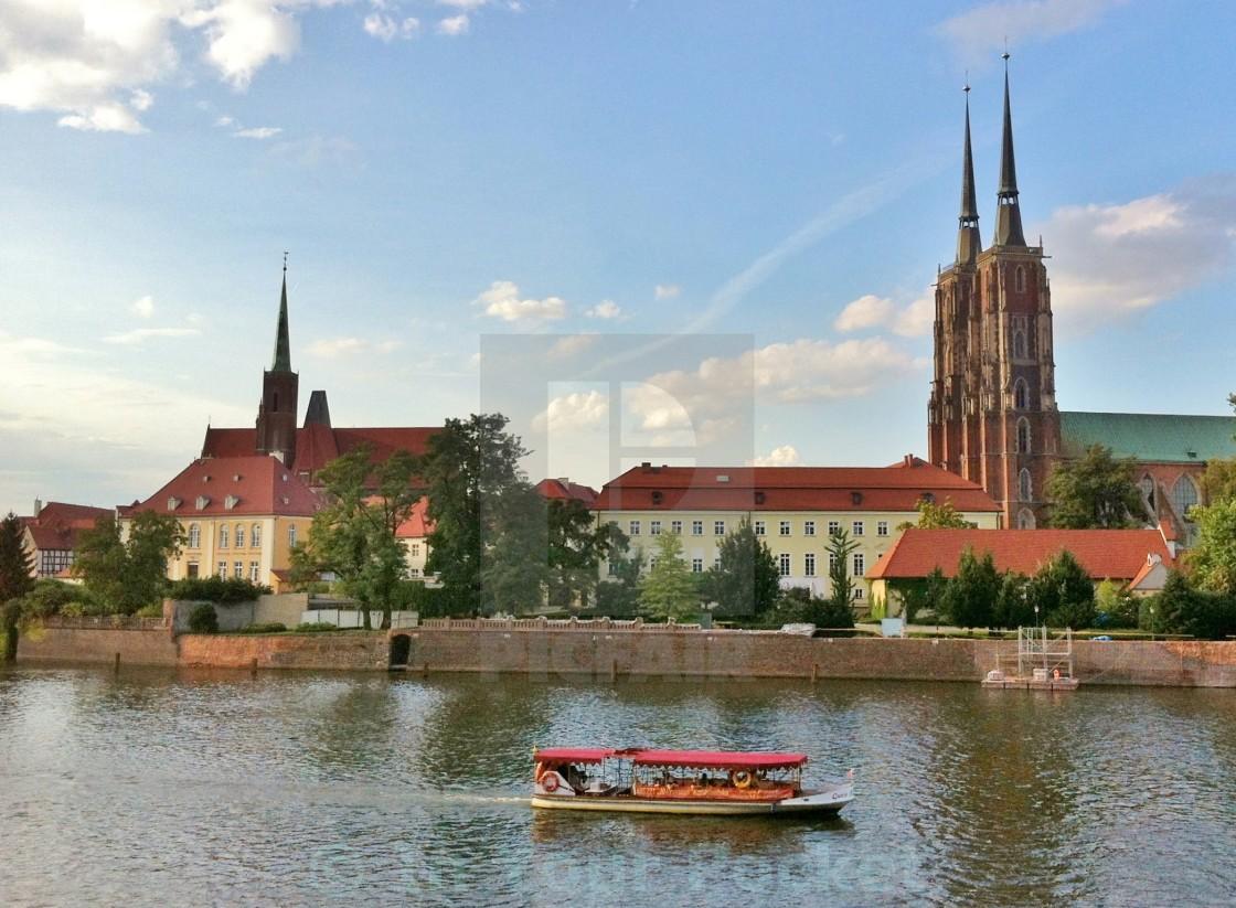 """""""Ostrów Tumski, Wrocław"""" stock image"""