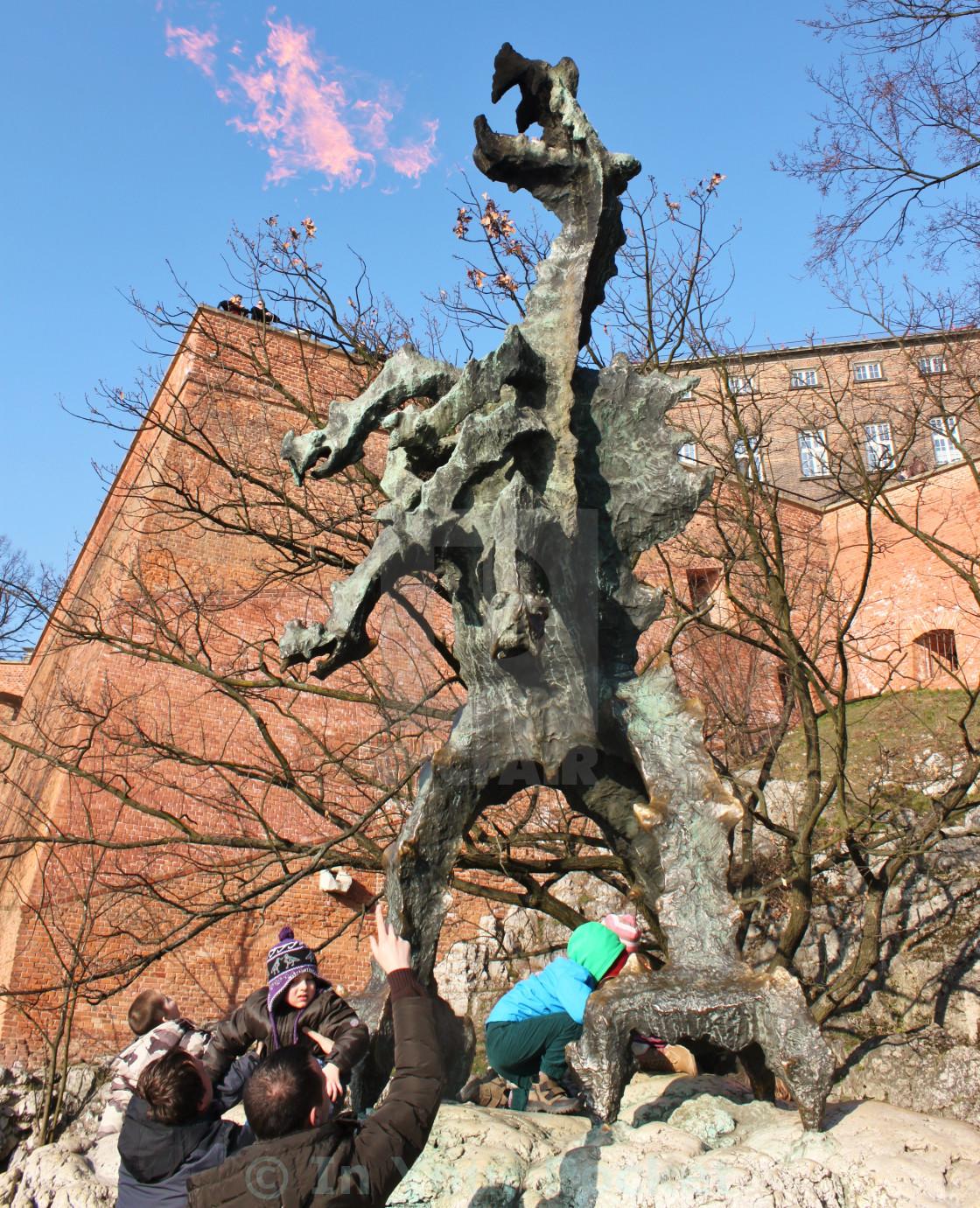 """""""The Wawel Dragon, Kraków"""" stock image"""