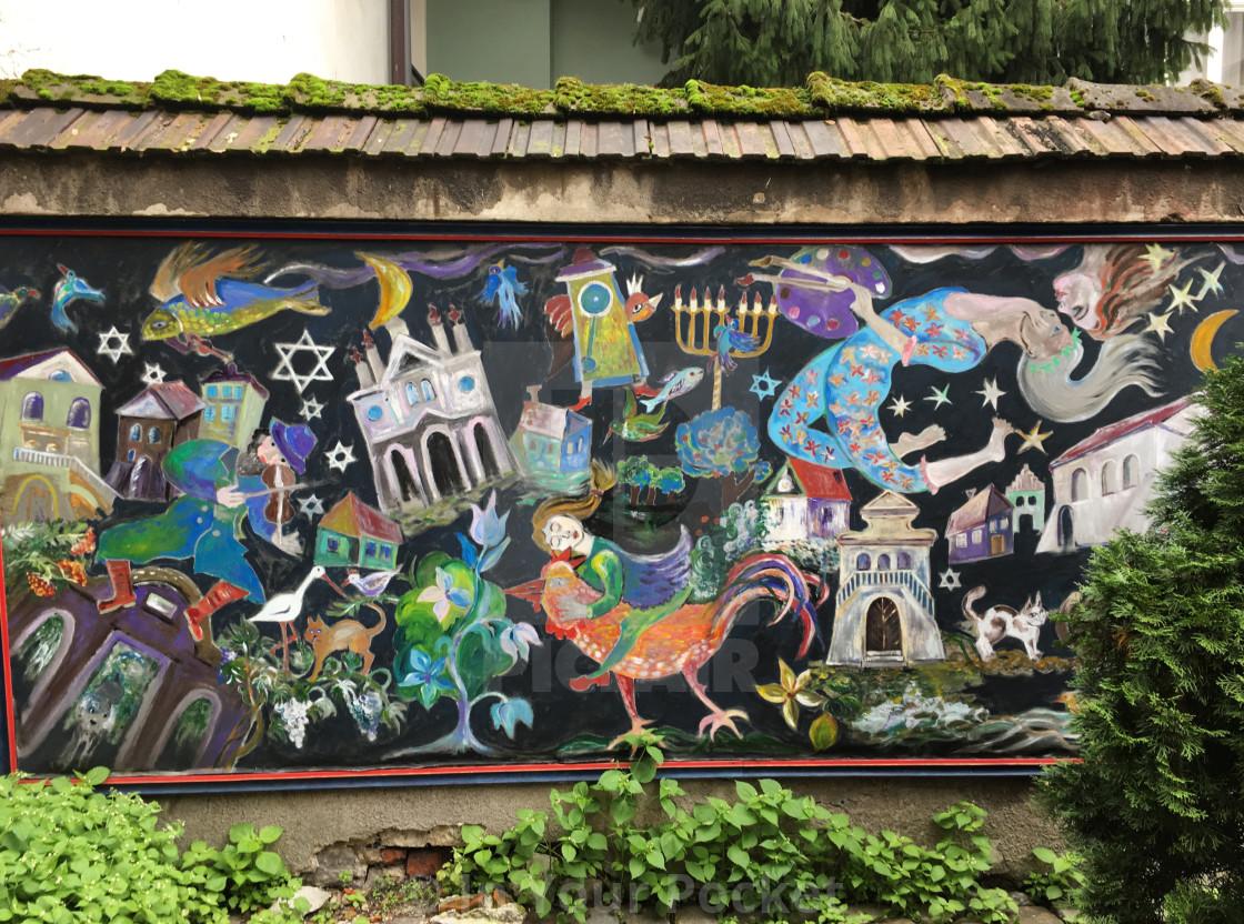 """Kazimierz mural, Krakow Poland"" stock image"