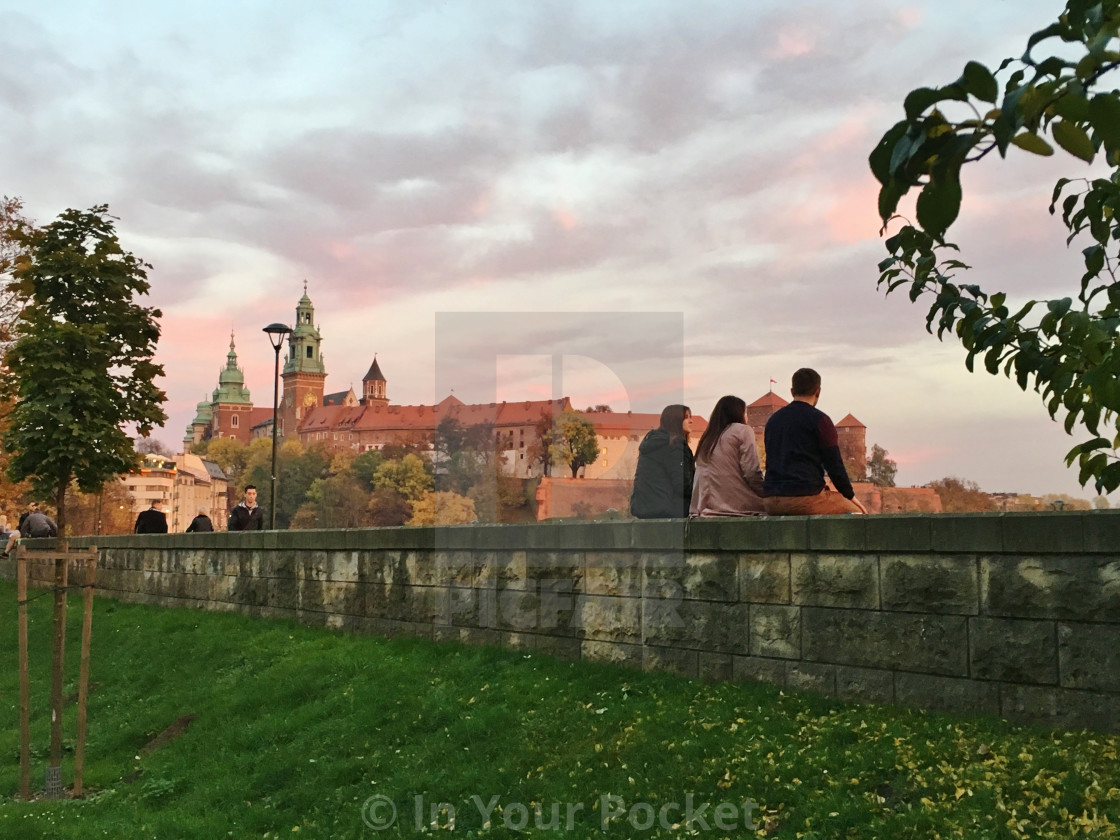 """""""Autumn sunset in Krakow"""" stock image"""
