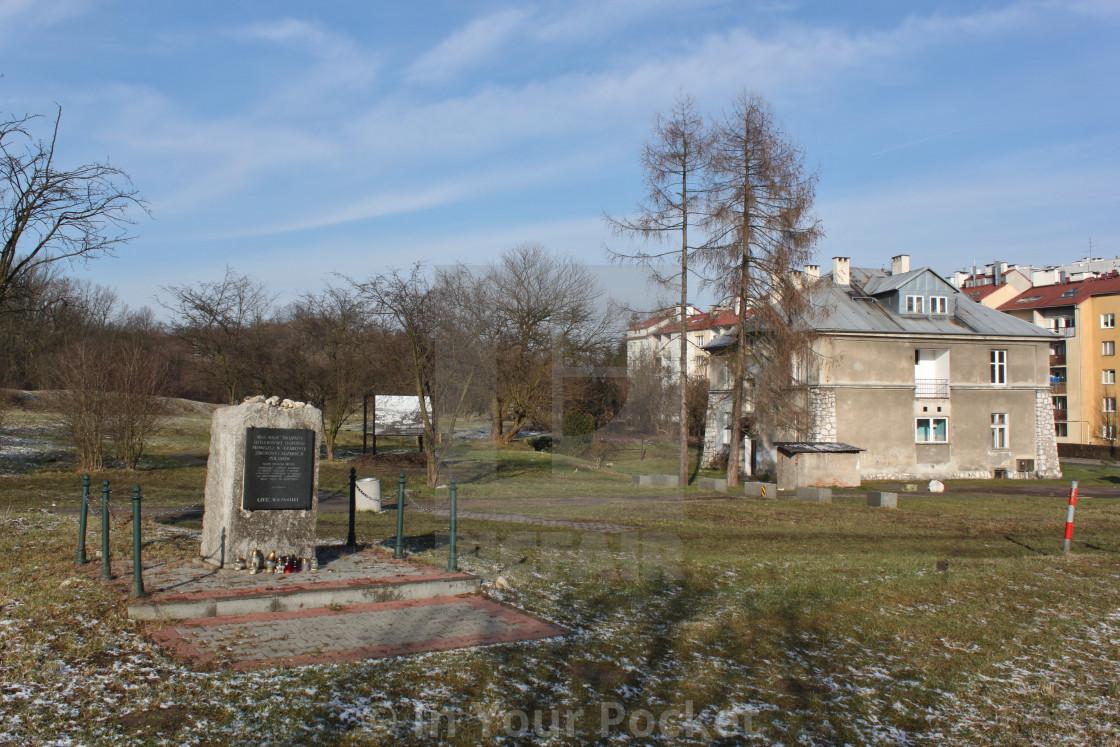 """Plaszów Concentration Camp, Krakow"" stock image"
