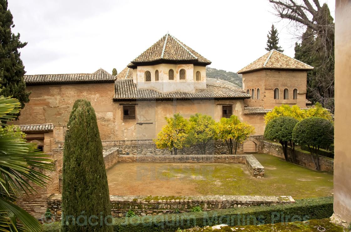 Generalife gardens, Alhambra, Granada,Spain - License for £6.20 on ...