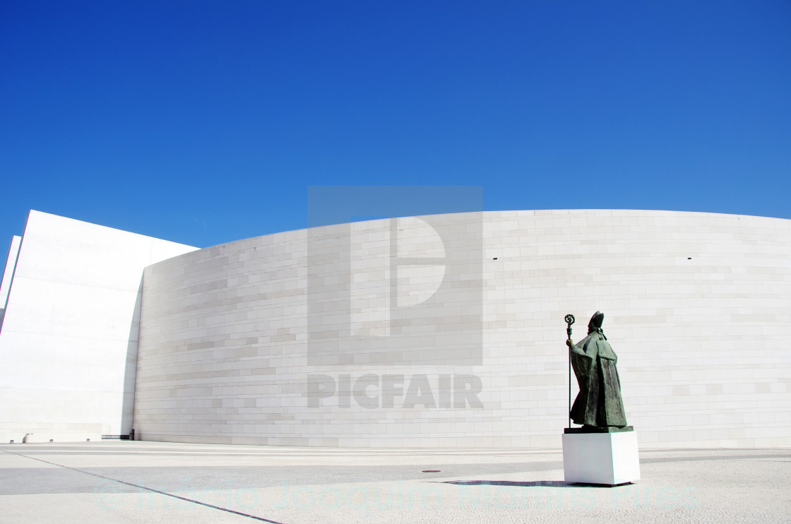 """Church of the Holy Trinity, Fatima, Portugal"" stock image"