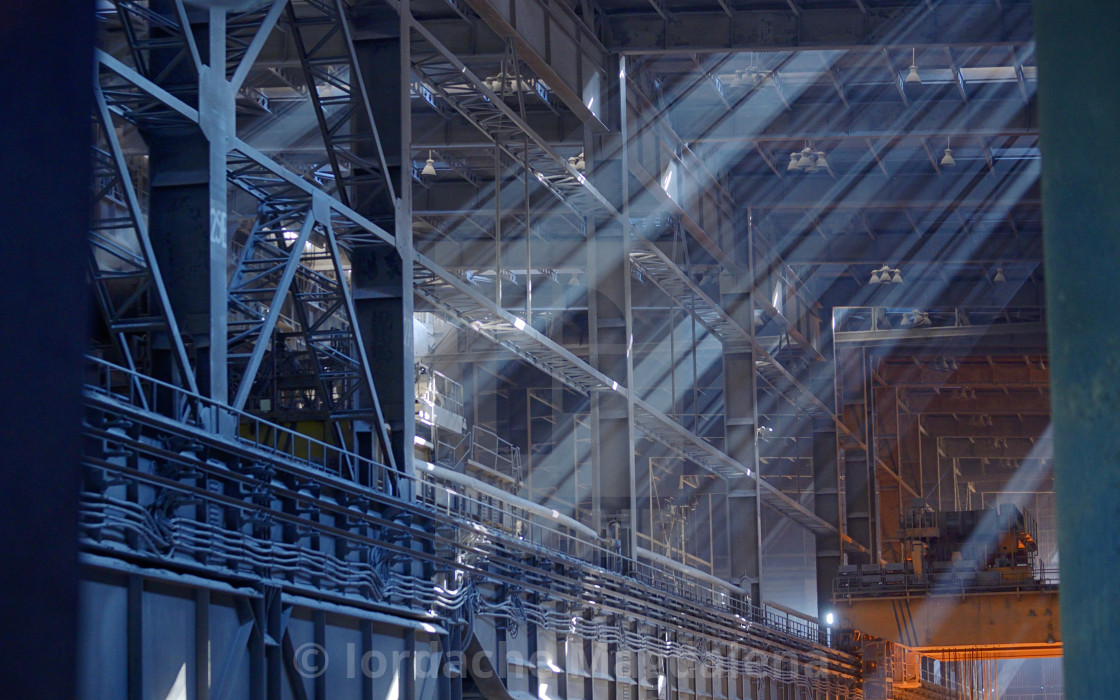 """""""Warehouse old industrial building"""" stock image"""