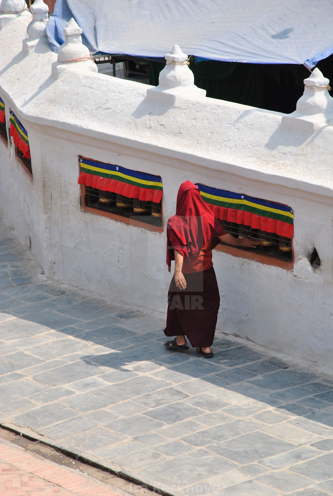 """The sound of prayer wheels"" stock image"