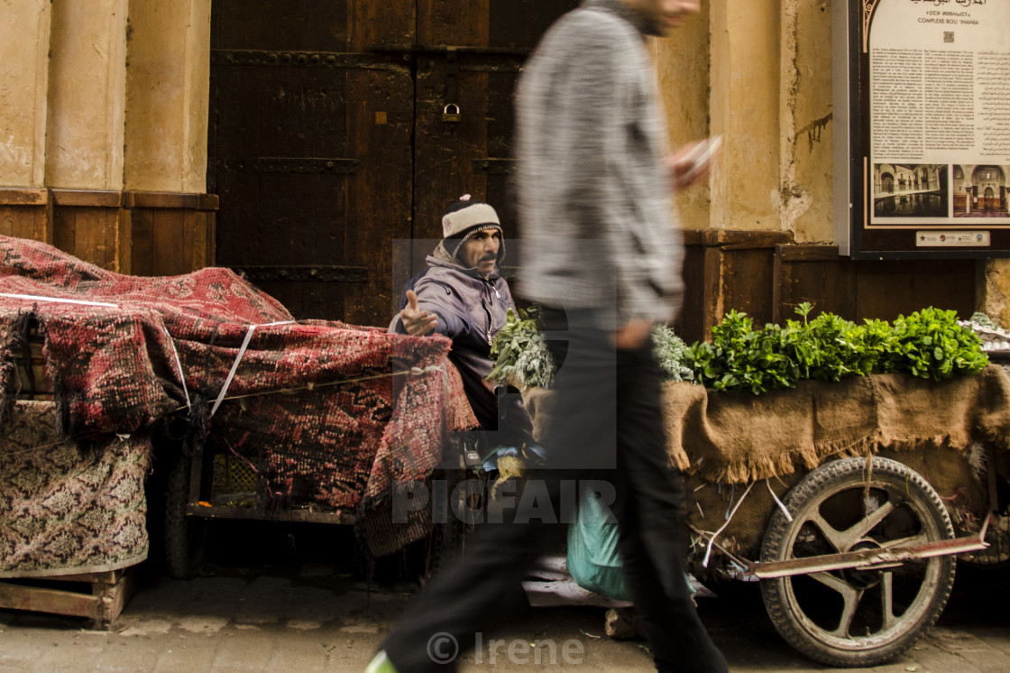 """Market in Morocco"" stock image"