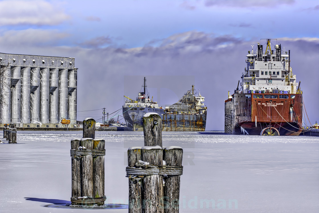 """Owen Sound Winter Harbour Study #5"" stock image"