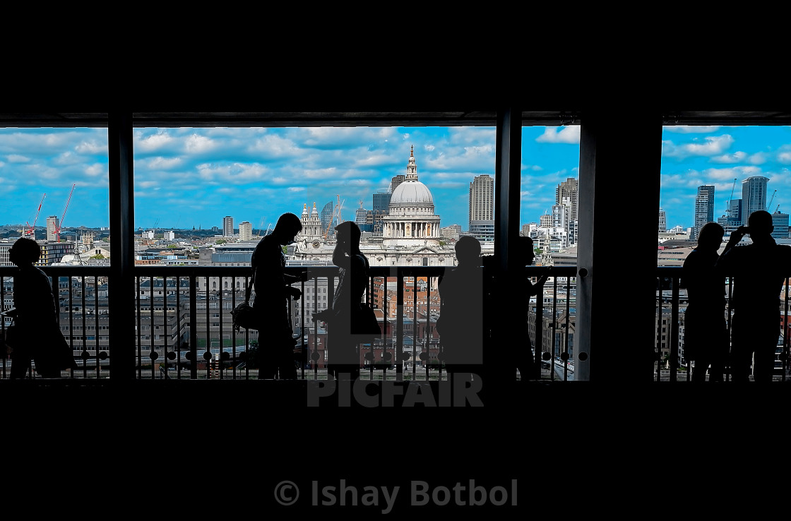 """Balcony view to Sant Paul, Tate Modern London, 2017"" stock image"