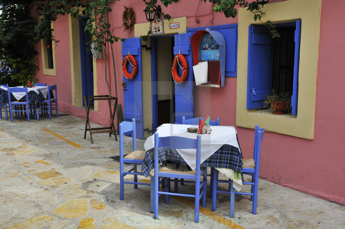 """Greek taverna"" stock image"