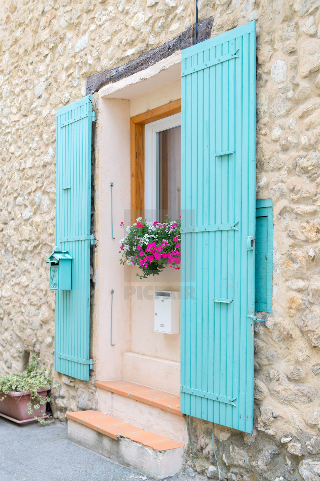 French Window With Typical Shutters License Download Or