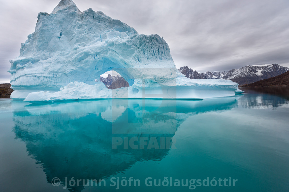 """ice reflection"" stock image"