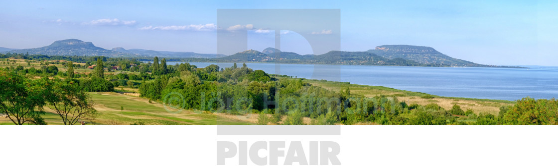 """Panorama from Mountains and a Sea"" stock image"