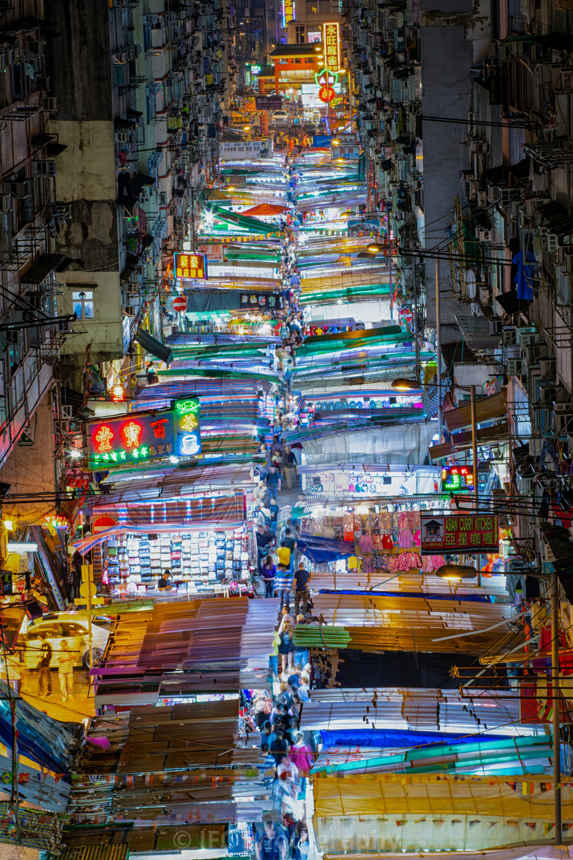 """Temple Night Market"" stock image"