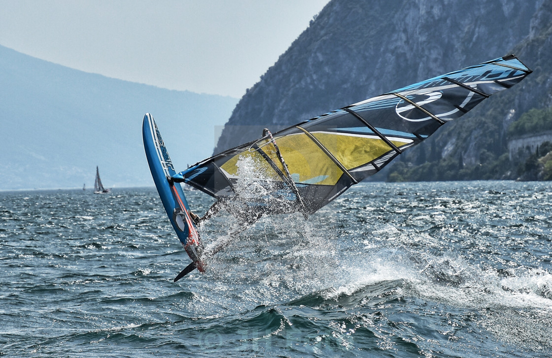 """Crazy Windsurfer....."" stock image"