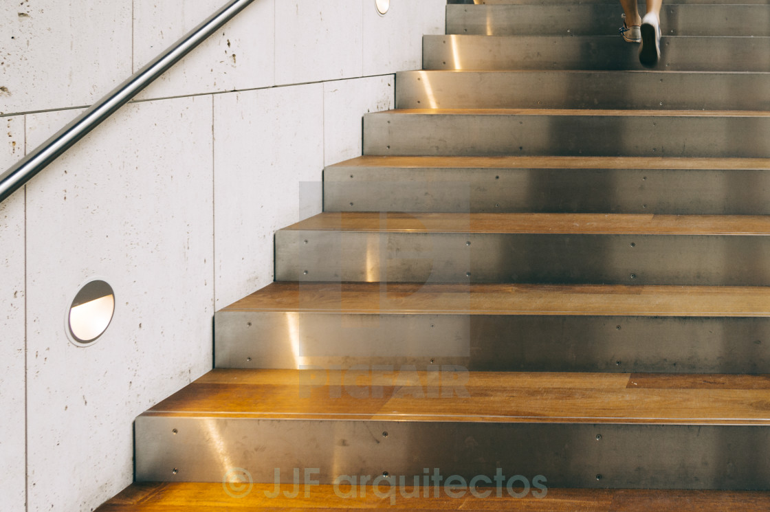 """""""Modern interior staircase and feet"""" stock image"""