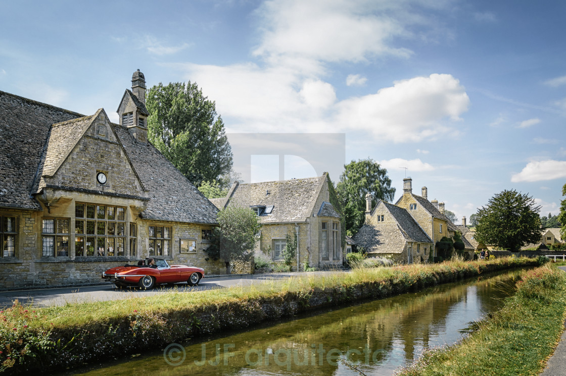 """Lower Slaughters, The Cotswolds"" stock image"