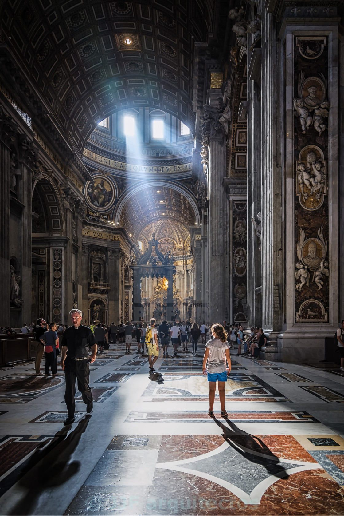 """The Angel of Vatican"" stock image"