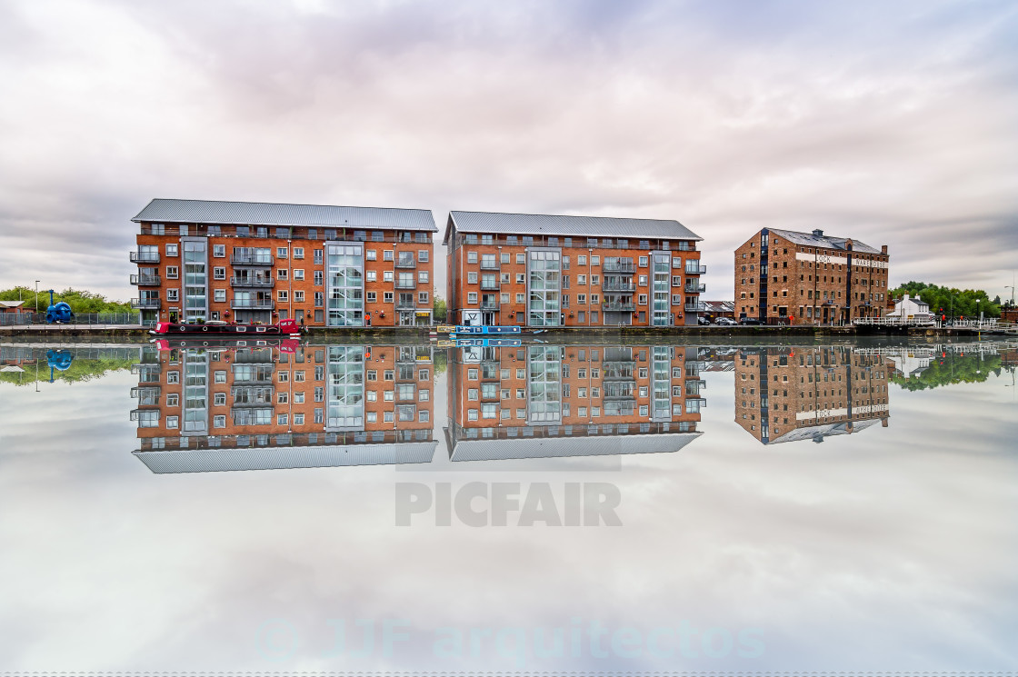 """Gloucester Docks"" stock image"
