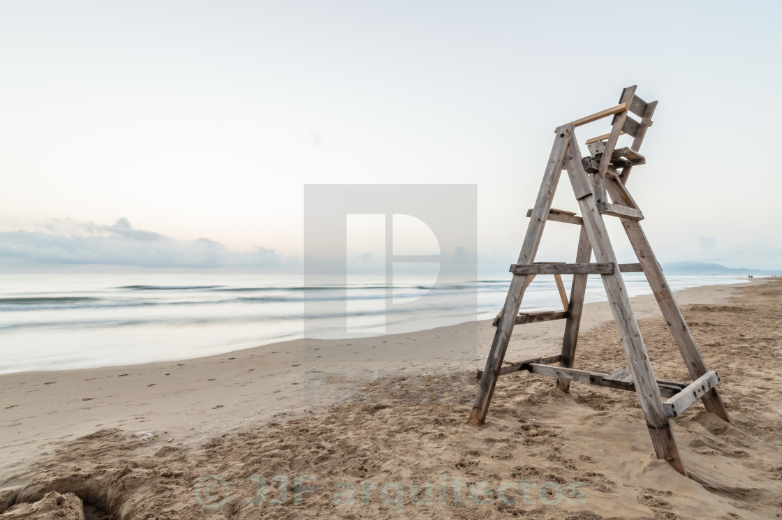 """Chair on the beach"" stock image"