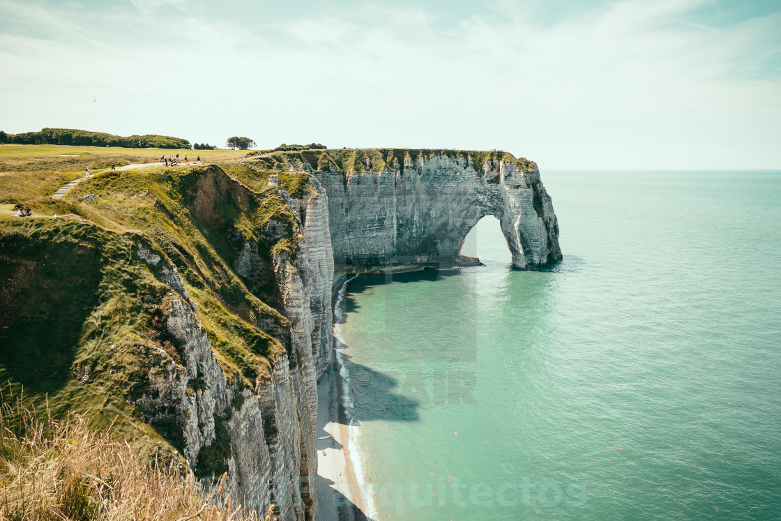 """The Cliffs of Etretat"" stock image"