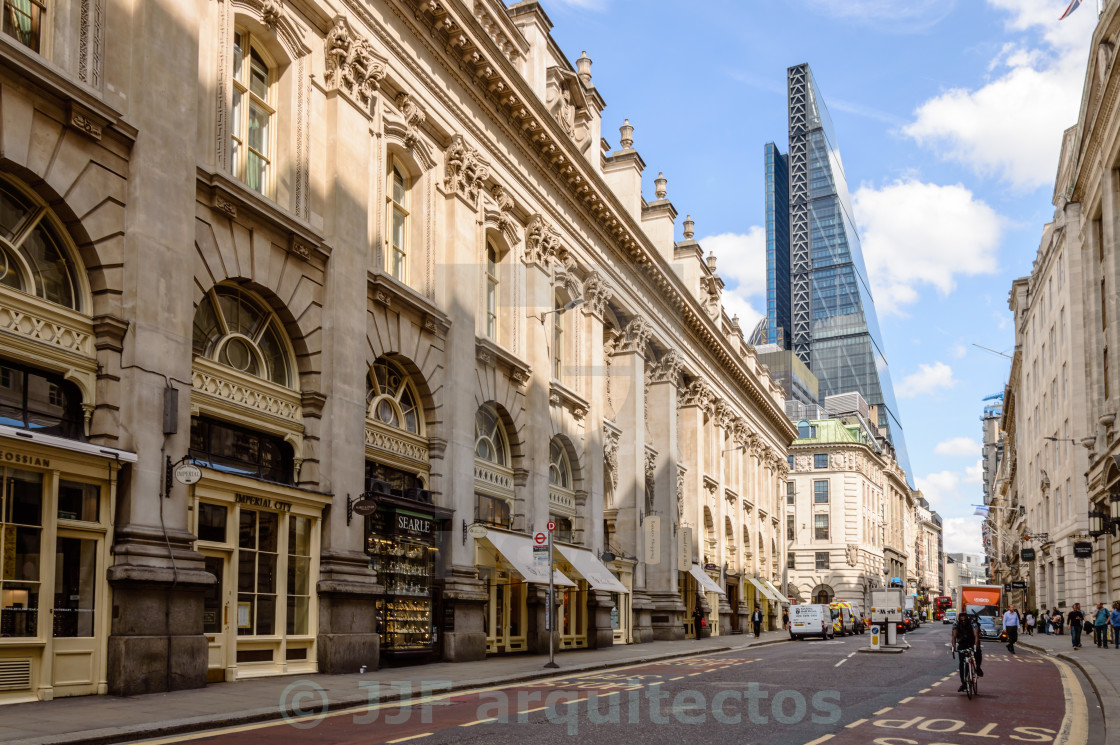 """Contrasts in the City of London"" stock image"