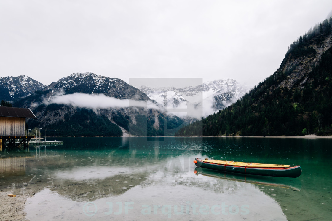 """Plansee lake in Austria"" stock image"