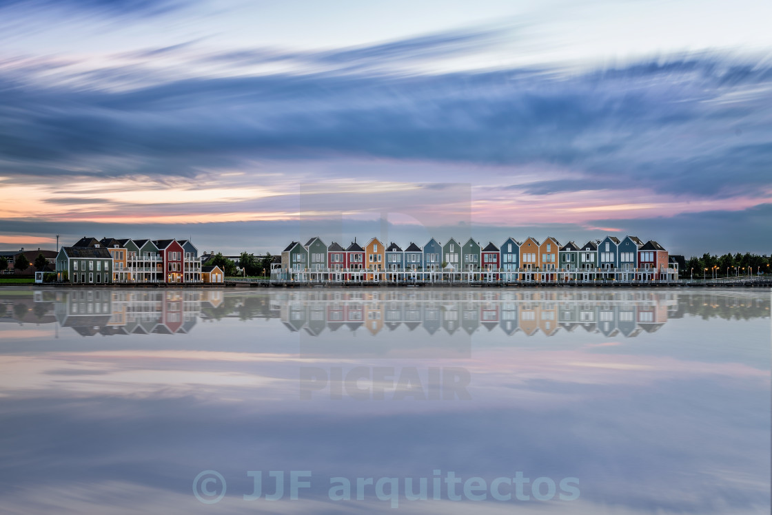 """Colorful row houses in Netherlands"" stock image"