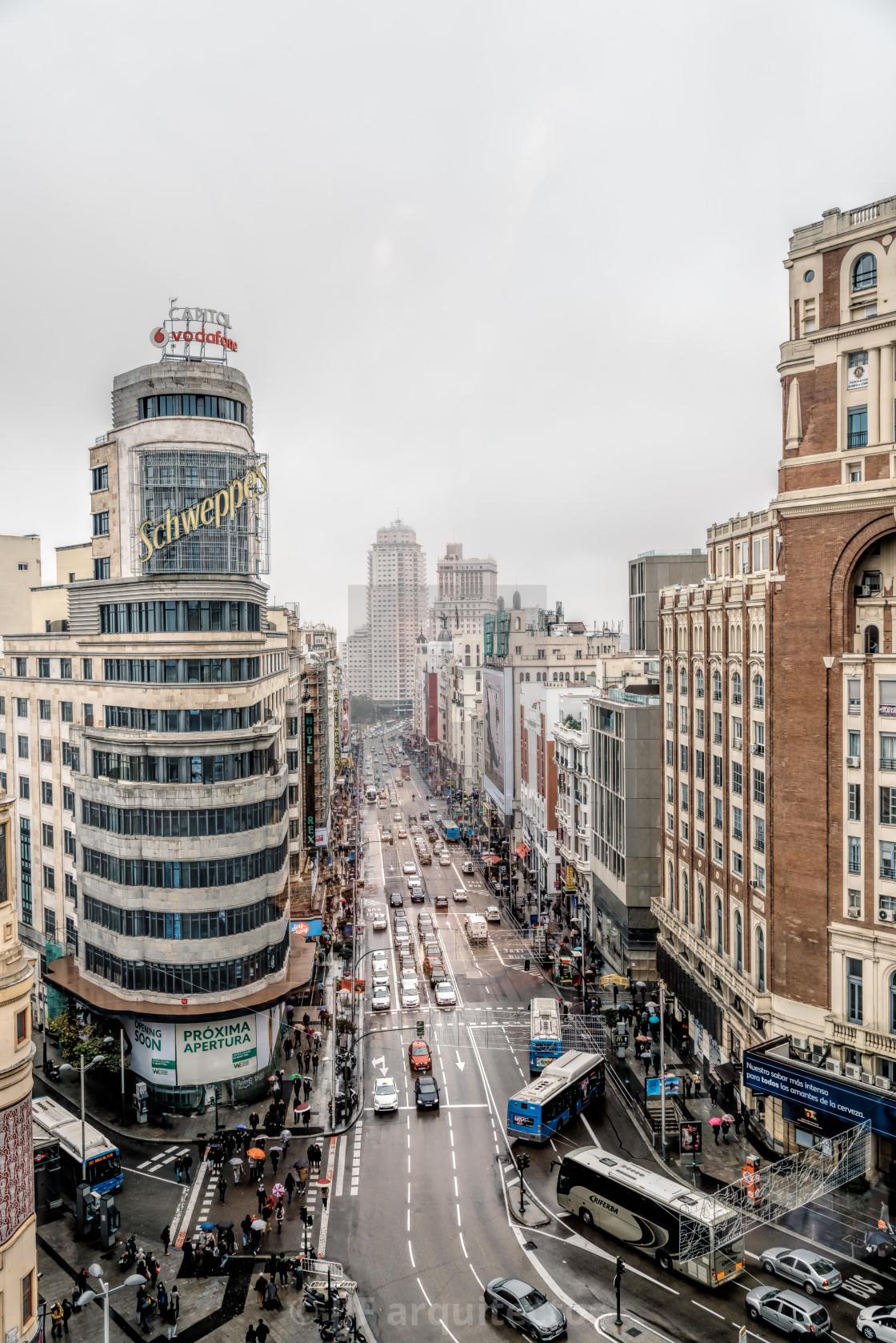 """Gran Via Madrid"" stock image"