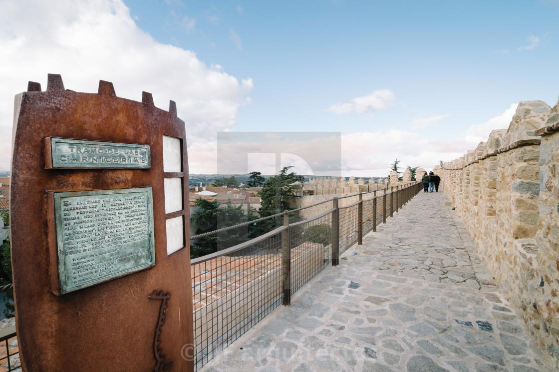 """Walls of Avila"" stock image"