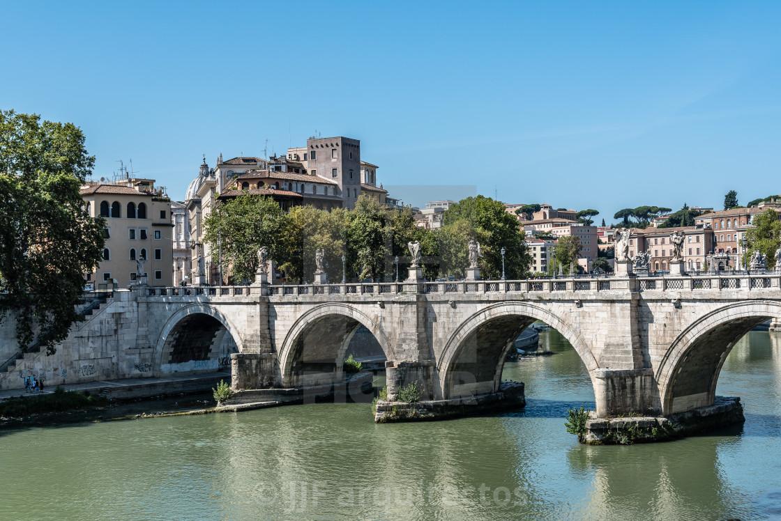 """""""Bridge of Castel Sant Angelo"""" stock image"""