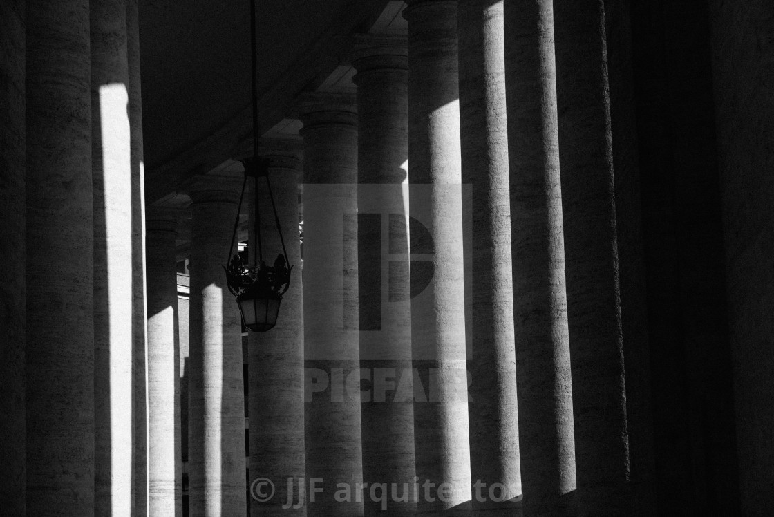 """Colonnade in St Peters Square"" stock image"