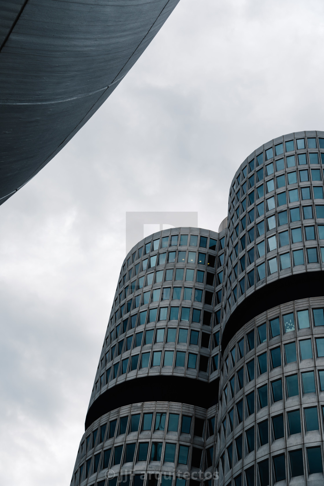 """Exterior shot of BMW main offices in Munich"" stock image"