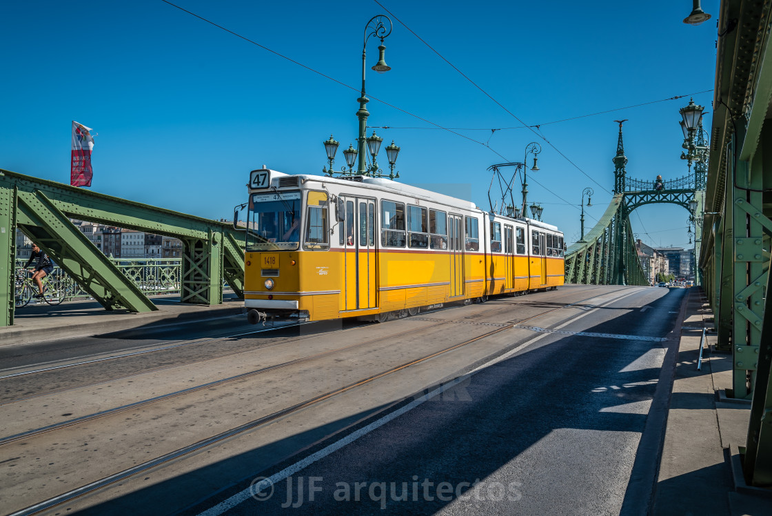 """Liberty Bridge in Budapest"" stock image"