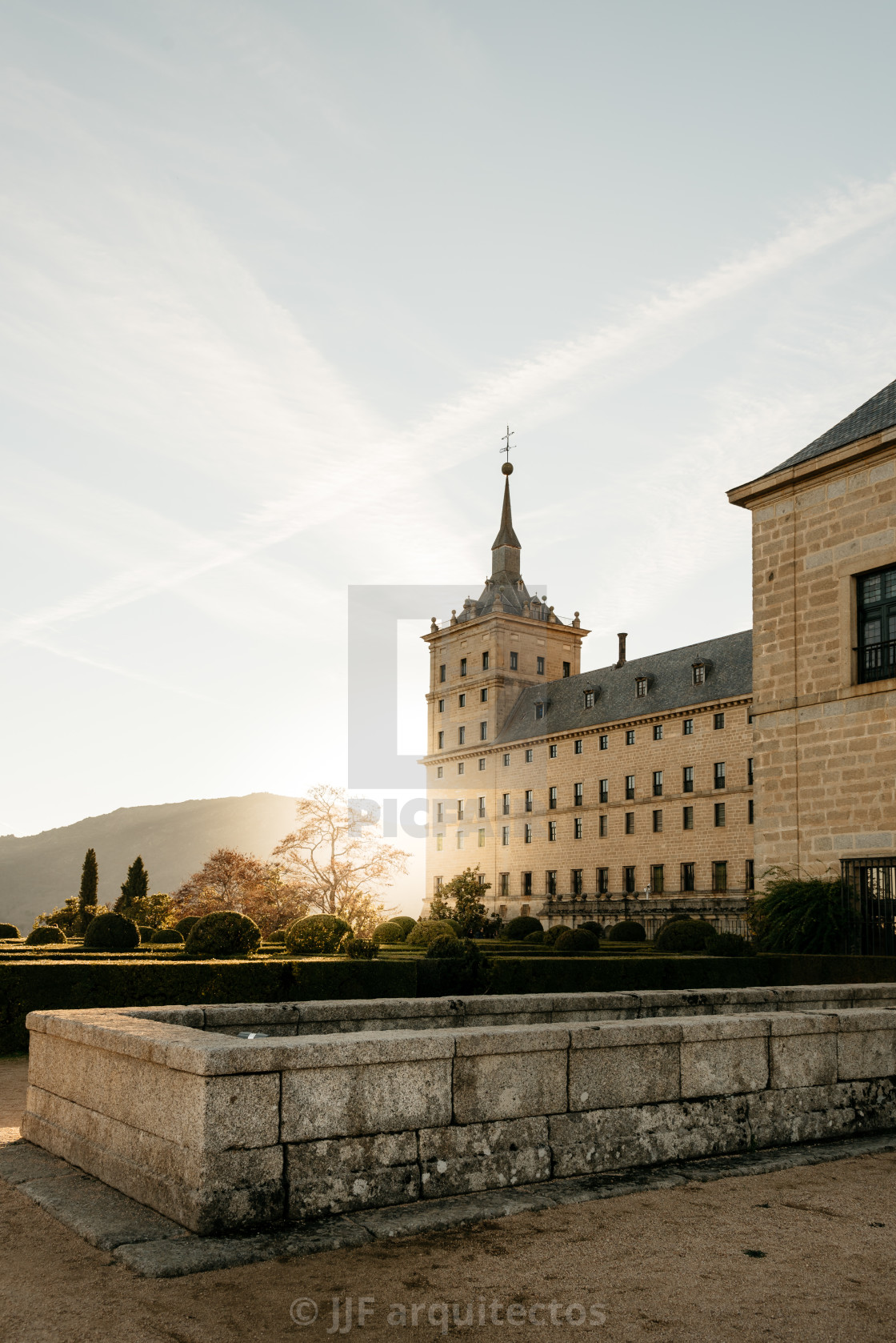 """Outdoor view of El Escorial"" stock image"